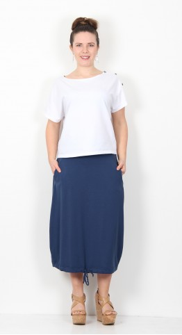 Mama B Florida Skirt Blue