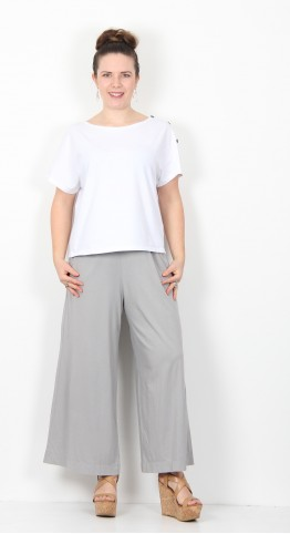 Mama B Ortigia Cropped Wide Pants Cloud