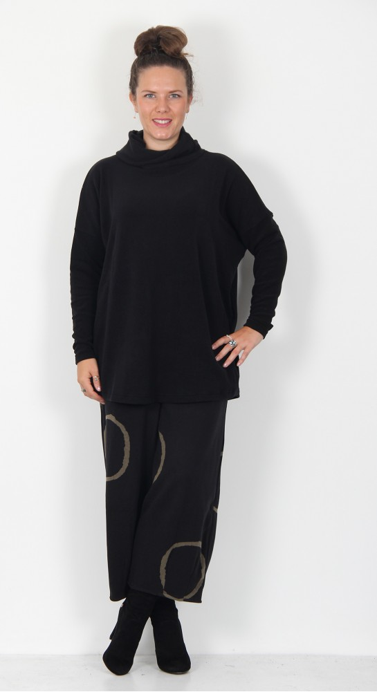 Mama B Bill M Roll Neck Top Black