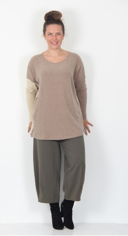 Mama B Sun M Boat Neck Top Deer/Natural