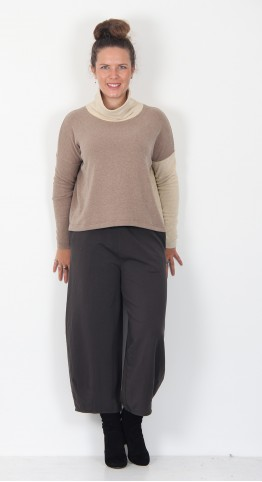 Mama B Monte M Roll Neck Top Deer/Natural