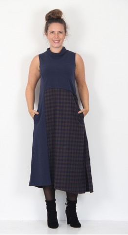 Mama B Lontra Sleeveless Dress Ebony/Navy