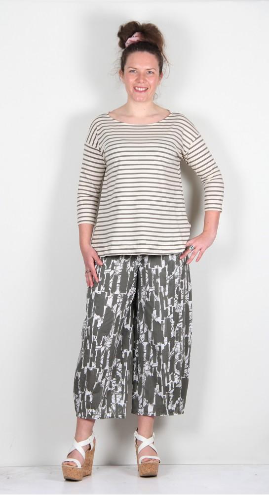 Mama B Tavolara R Tee Shirt Thyme Stripe