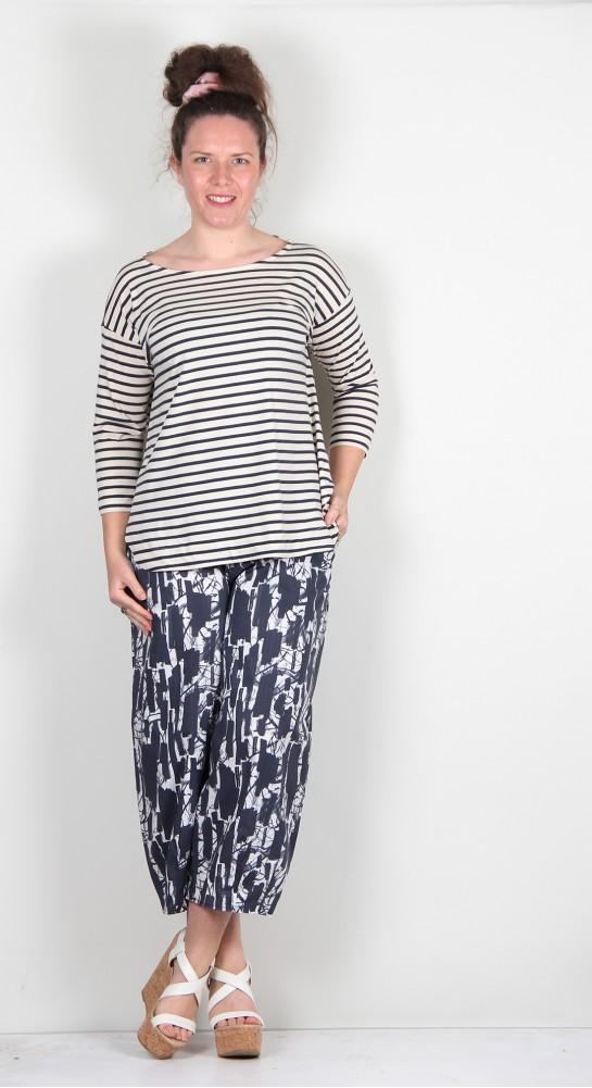 Mama B Tavolara R Tee Shirt Blue Stripe