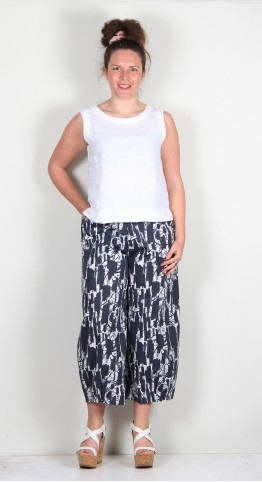 Mama B Pino PS Cropped Pant Blue Print