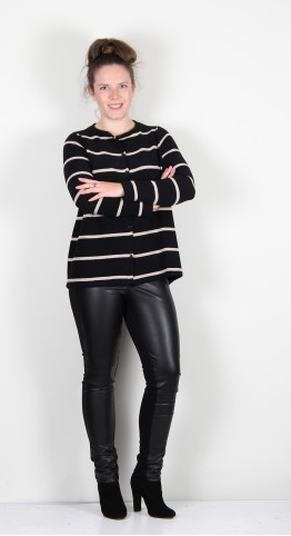 Mama B Frolla M Cardi Black/Marble Stripe