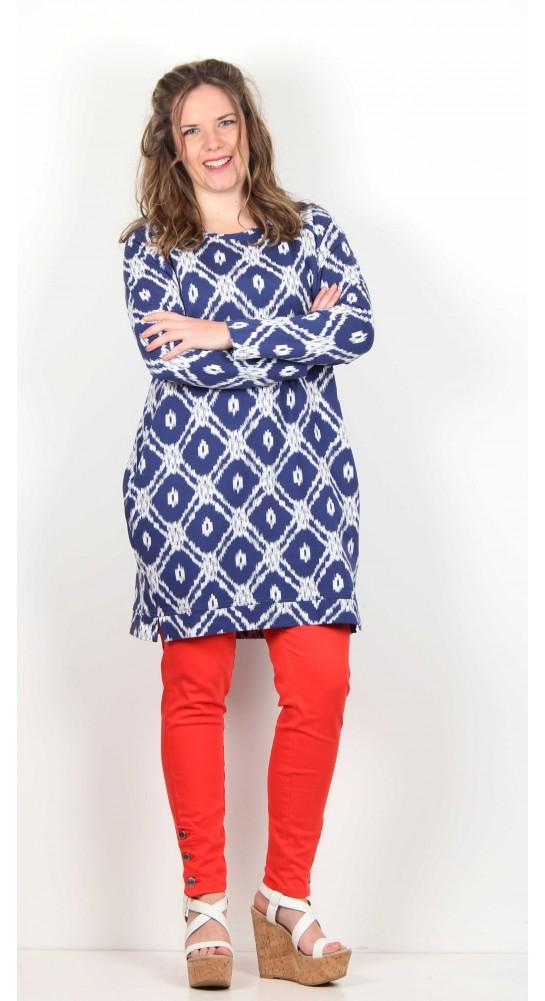 Masai Clothing Germy Tunic Midnight Aztec Print