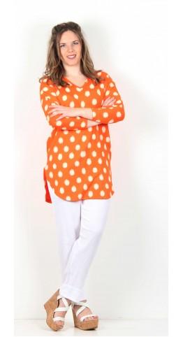 Masai Clothing Gerlis Tunic Mandarin Spot