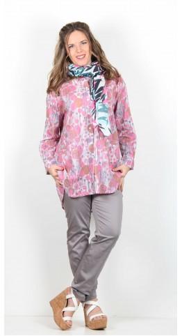 Masai Clothing Asta Scarf Pink Leaf Print