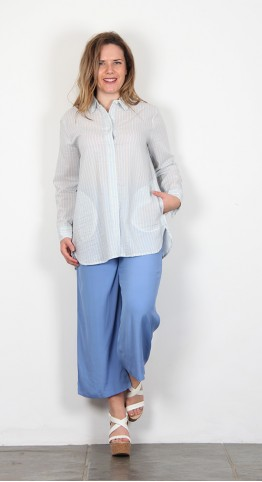 Masai Clothing Ibene Blouse Gentle Blue