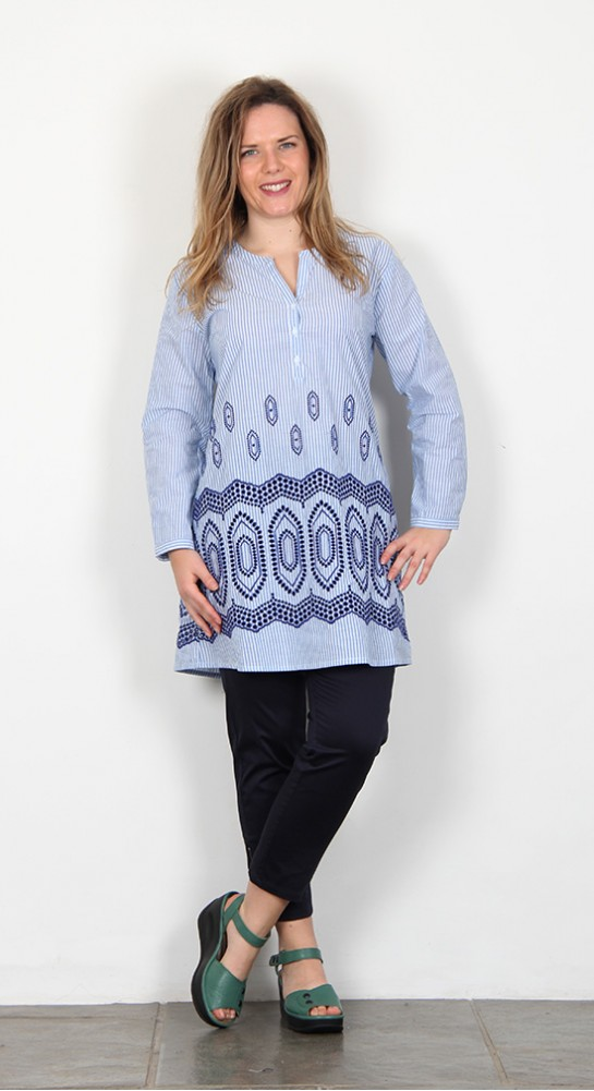 Masai Clothing Geanna Tunic Gentle Blue
