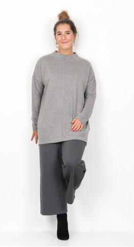 Masai Clothing Bodil Top Grey Herringbone