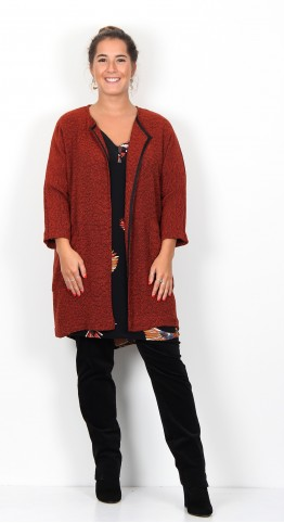 Masai Clothing Jarmis Jacket Red Ochre