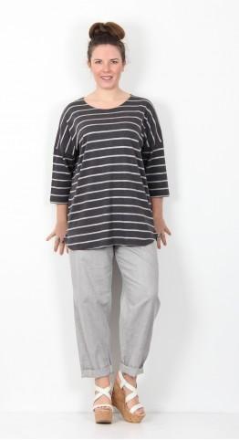 Masai Clothing Dalita Top Dark Grey Melange