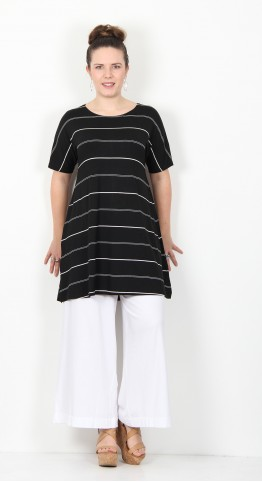 Masai Clothing Gertie Tunic Black Stripe