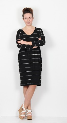 Masai Clothing Nebine Dress Black Stripe
