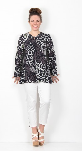 Masai Clothing Danita Top Peridot Animal Print