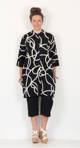 Masai Clothing Iosetta Tunic Dress Black