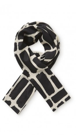Masai Clothing Along Scarf Black Cream