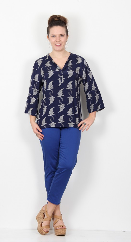 Masai Clothing Bell Top Medieval Blue
