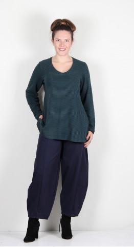 Mes Soeurs Et Moi Nautile V-Neck Soft Fleece Tunic Forest Stripe