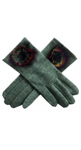 Miss Sparrow Bella Melange Gloves Green