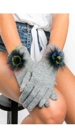 Miss Sparrow Bella Melange Gloves Silver