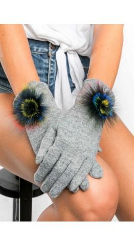 Miss Sparrow Bella Melange Gloves Silver