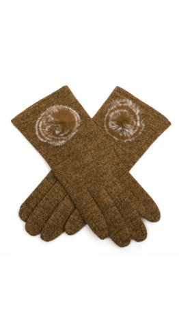 Miss Sparrow Lily Melange Gloves Caramel