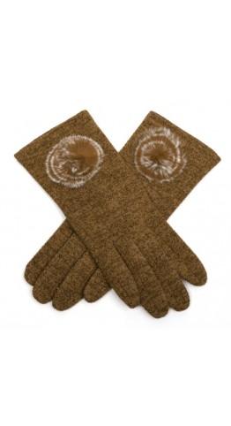 Miss Sparrow Lily Melange Gloves Caramel