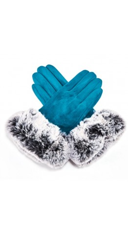 Miss Sparrow Connie Gloves Turquoise