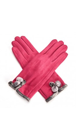 Miss Sparrow Mel Gloves Hot Pink