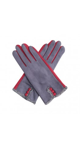 Miss Sparrow Ros Two Tone Gloves Grey