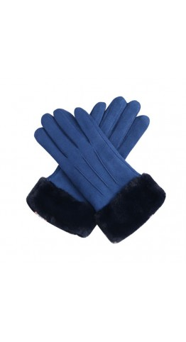 Miss Sparrow Teddy Gloves Blue