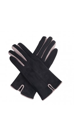 Miss Sparrow Glenda Two Tone Gloves Black
