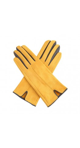 Miss Sparrow Glenda Two Tone Gloves Mustard