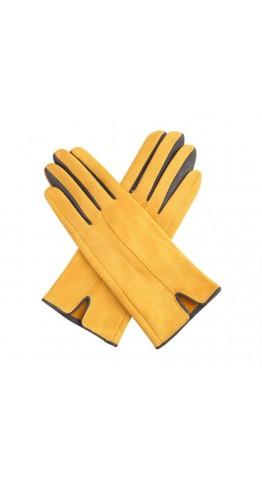 Miss Sparrow Glenda Two Tone Gloves Mustard