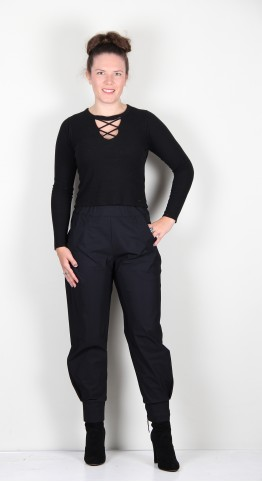 Naya Cuff Trousers Black