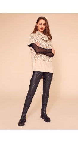Naya Leatherette Trouser Black