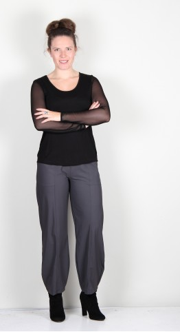 Naya Trouser With Seams Grey