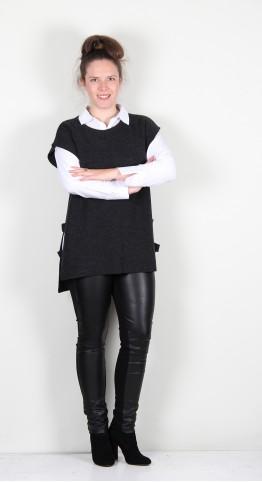 Naya Square Cut Out Sides Knit Grey