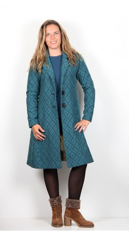 Nomads Fit And Flare Coat Pacific