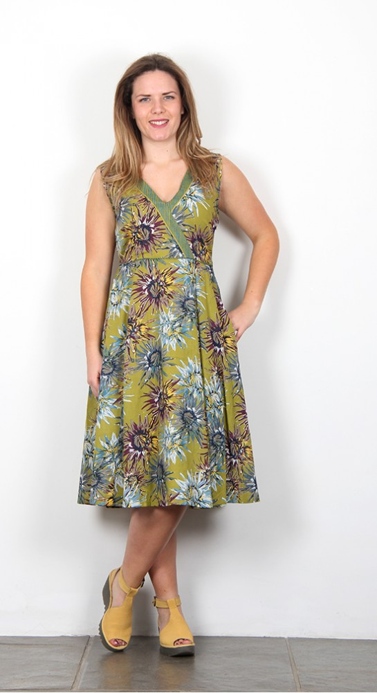 Nomads Fit And Flare Dress Avocado