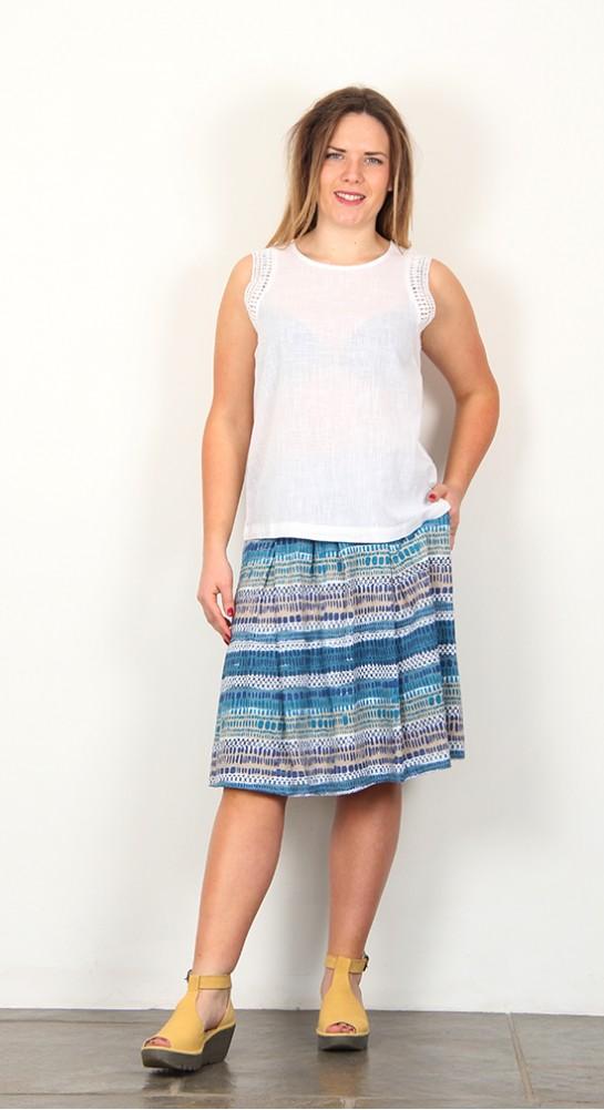 Nomads Crochet Trim Vest White