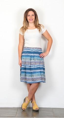 Nomads Stripe Jersey Skirt Aegean