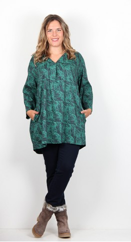 Two Danes Ricci Tunic Ink Jade