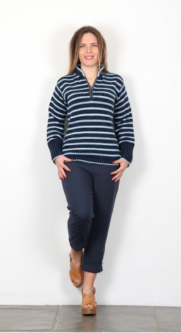 Original Blues Palladium Stripe Top Indigo