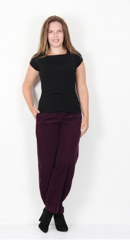 Oska Clothing Dixee 218 Cord Trousers Berry