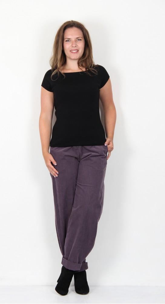 Oska Clothing Dixee 218 Cord Trousers Grape