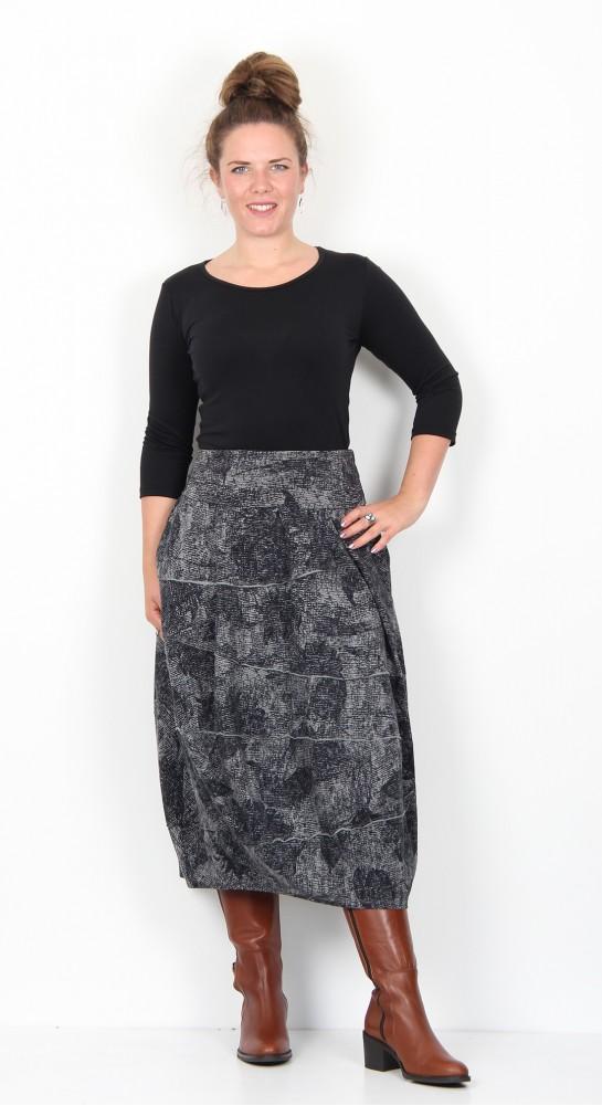 Oska Clothing Lovisa Skirt 904 Grey.